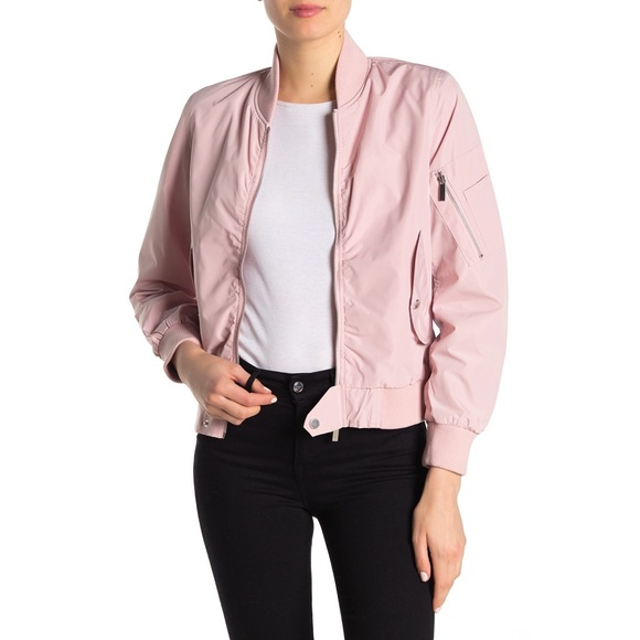 French Connection Jackets & Blazers - French Connection Pink Bomber Jacket FCUK NWT L